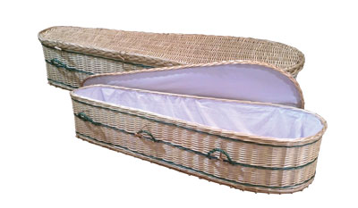 Wicker Adult Casket